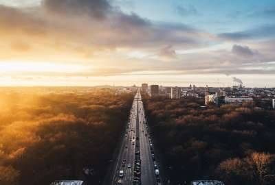 Sunset at Tiergarten Berlin wallpaper