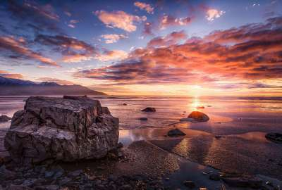 Sunset at Turnagain Arm Alaska wallpaper
