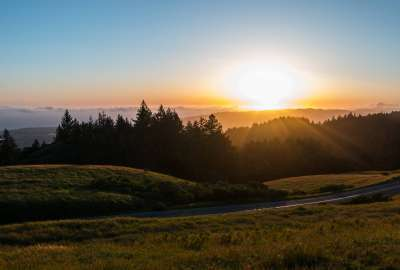 Sunset on Earth Day Over Mount Tamalpais wallpaper