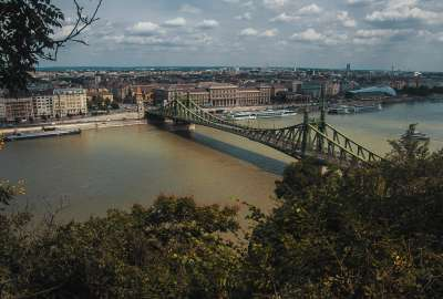 The Liberty Bridge in Budapest wallpaper