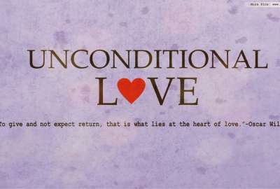 Unconditional Love Quote wallpaper