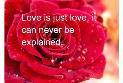 Unexplainable Love Quote wallpaper