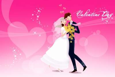 Valentine Day Love Dance wallpaper