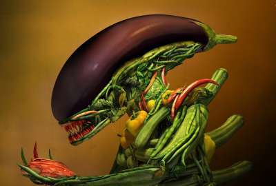 Vegetable Xenomorph wallpaper