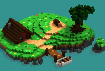 Voxel Island wallpaper