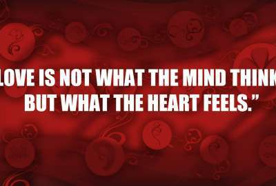What the Heart Feels Love Quote wallpaper