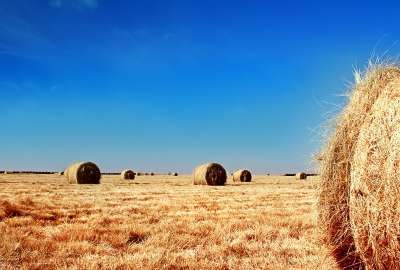 Wheat Bales Landscape wallpaper