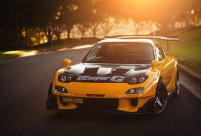 Yellow Supercharged Car wallpaper