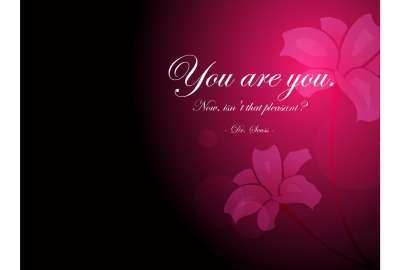 You Are You Inspirational Quote wallpaper