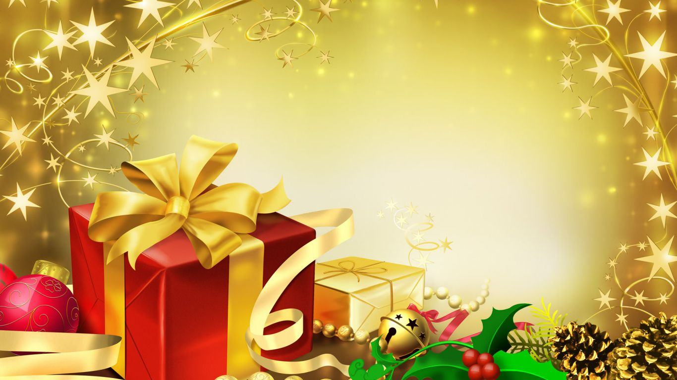 Colorful Gifts For Christmas Wallpaper In 1366x768 Resolution