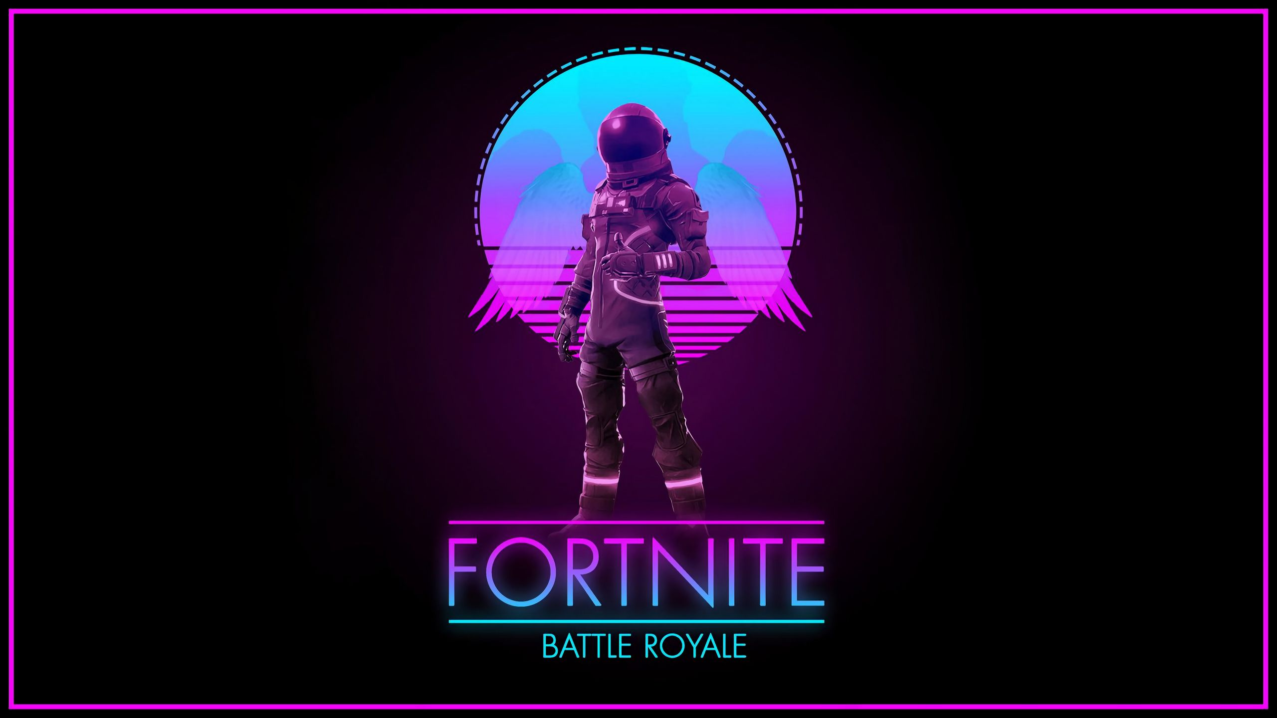 Fortnite - Synthwave Royale wallpaper in 2560x1440 resolution