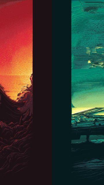 Star Wars A Glitch Awakens Wallpaper In 360x640 Resolution